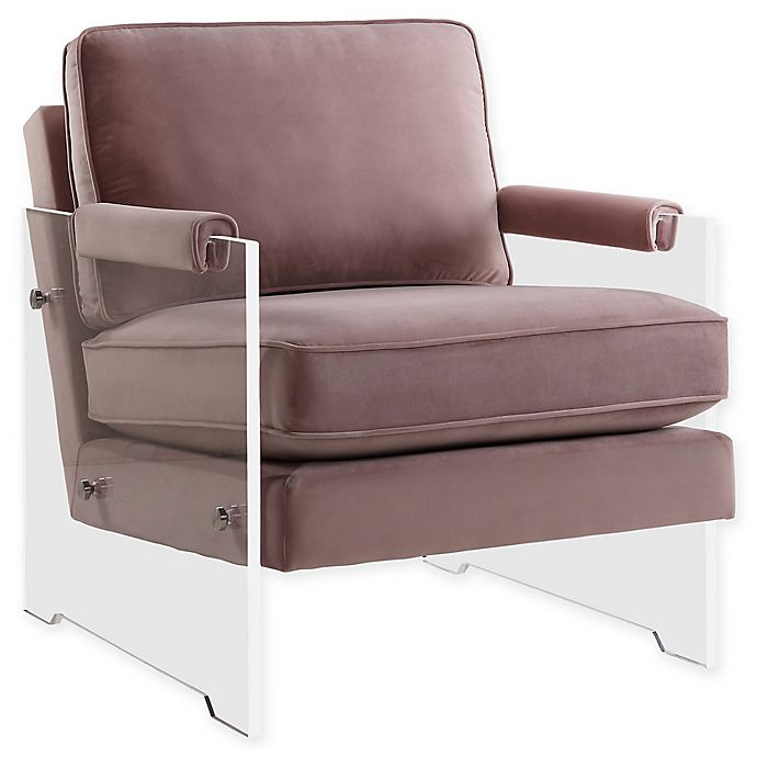 Tov Furniture Serena Velvet And Lucite Chair In Blush Bed Bath