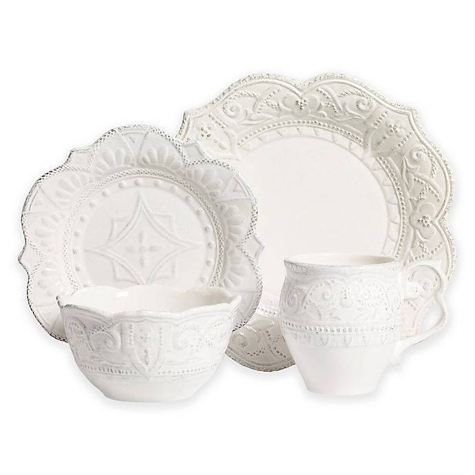 Alternate image 1 for Tabletop Unlimited® Amelie 4-Piece Place Setting in White