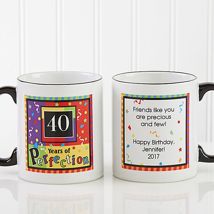 Alternate image 1 for Aged to Perfection Birthday Personalized Coffee Mug