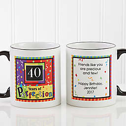 Aged to Perfection Birthday Personalized Coffee Mug