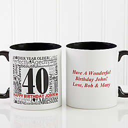 Another Year Has Gone By Personalized Coffee Mug