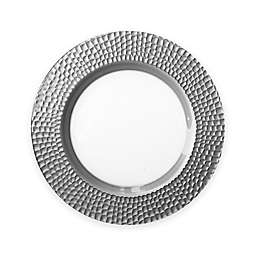 Charge It by Jay! Daphne Glass Charger Plate in Silver