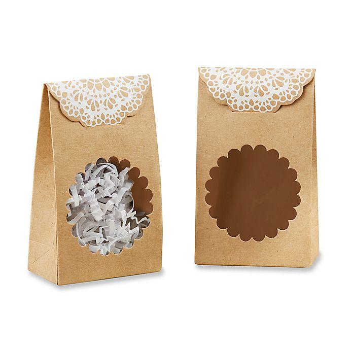 Alternate image 1 for Kate Aspen® 12-Pack Rustic Kraft Tent Favor Boxes
