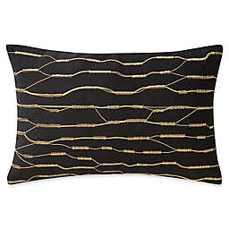 Highline Bedding Co. Valencia Embroidered Rope Oblong Throw Pillow in Onyx