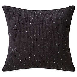 Highline Bedding Co. Valencia Knit Square Throw Pillow in Onyx