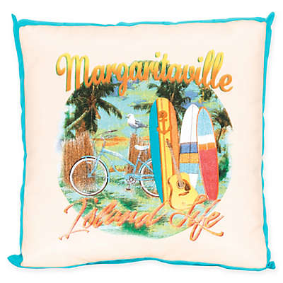Margaritaville® Window Pane 20-Inch Square Throw Pillow in Red/Yellow/Blue