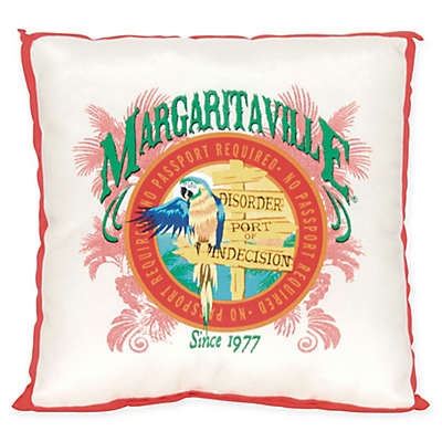 Margaritaville® Window Pane 20-Inch Square Throw Pillow in Red/White/Blue