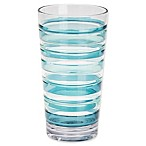 Riviera Striped High Ball Glass in Blue