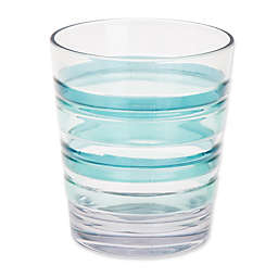 Riviera Striped Double Old Fashioned Glass in Blue