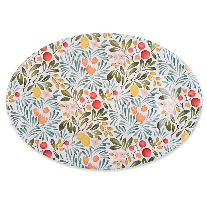 Alternate image 1 for Country Orchard Melamine Oval Platter