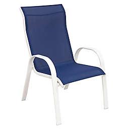 Never Rust Aluminum Sling Chair in White