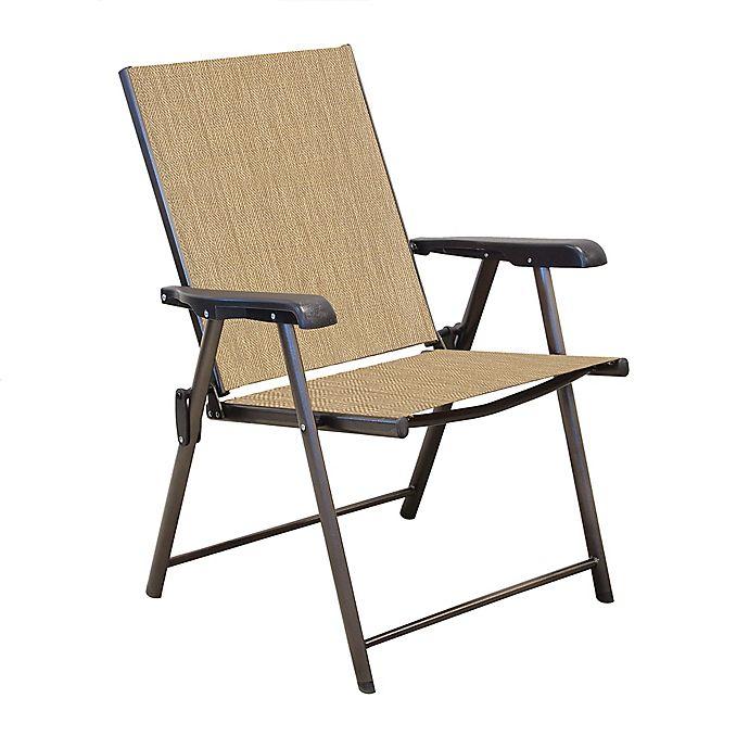 Alternate image 1 for Never Rust Aluminum Sling Folding Chair in Bronze