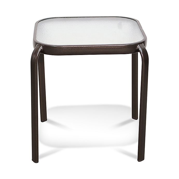 Alternate image 1 for Never Rust Aluminum Outdoor End Table in Bronze