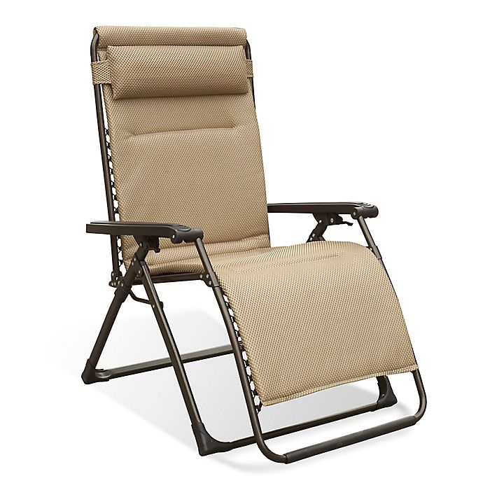 Alternate image 1 for Never Rust Aluminum Outdoor Oversized Adjustable Relaxer in Tan