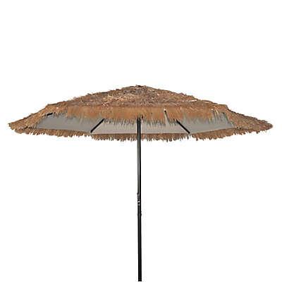 8-Foot 2-Inch Crank Tiki Market Umbrella in Straw