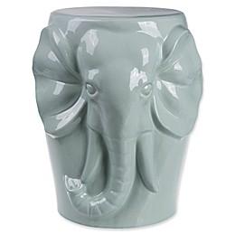 Elephant Ceramic Garden Stool in Celadon