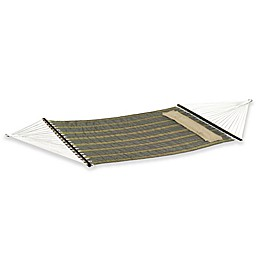 Reversible Woven Hammock with Pillow in Khaki