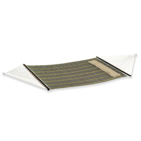 Reversible Woven Hammock With Pillow In Khaki Bed Bath
