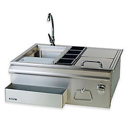 Stainless Steel 30-Inch Bar Center with Sink