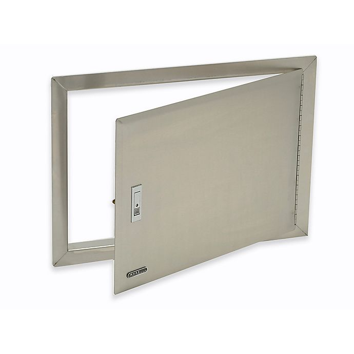 Alternate image 1 for BULL® Access Door with Lock and Frame in Stainless Steel