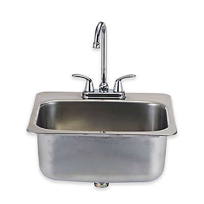 BULL® Large Sink with Faucet in Stainless Steel