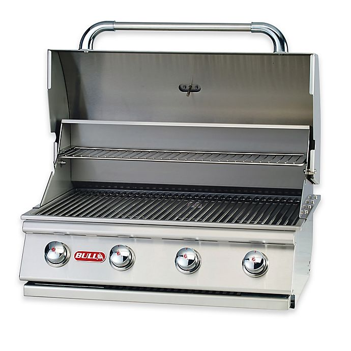 Alternate image 1 for BULL® Outlaw 4-Burner Liquid Propane Drop-In Grill in Stainless Steel