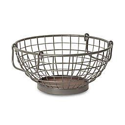 Spectrum Steel and Wood Fruit Bowl