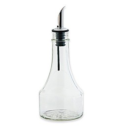 TableCraft® 8 oz. Glass Oil and Vinegar Bottle with Stainless Steel Pourer