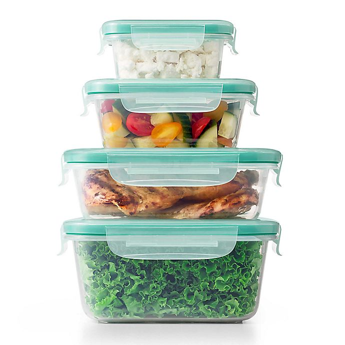 Alternate image 1 for OXO Good Grips® Smart Seal 20-Piece Plastic Container Set in Clear/Green