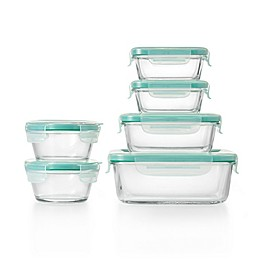 OXO Good Grips® Smart Seal 12-Piece Container Set in Clear/Blue