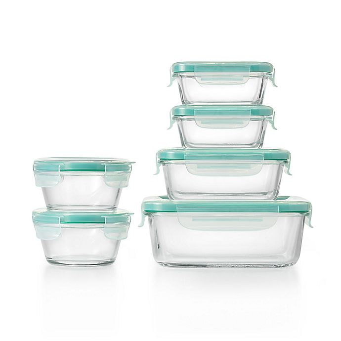 Alternate image 1 for OXO Good Grips® Smart Seal 12-Piece Container Set in Clear/Blue