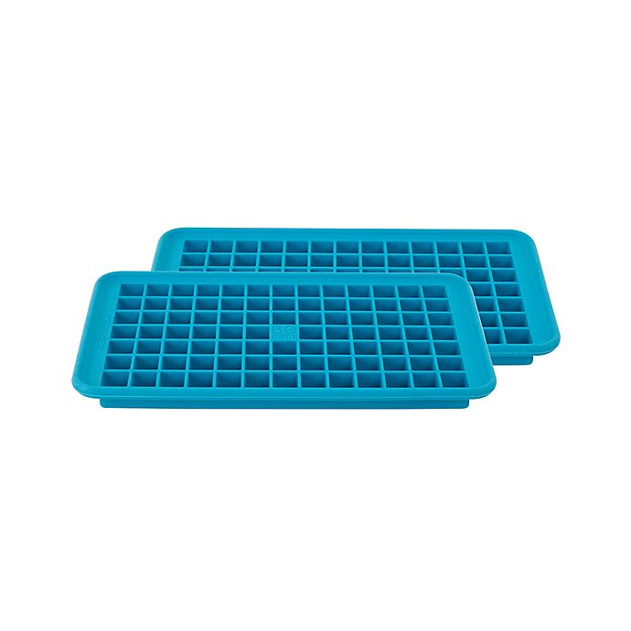 casabella mini ice cube trays in blue set of 2 bed bath beyond. Black Bedroom Furniture Sets. Home Design Ideas