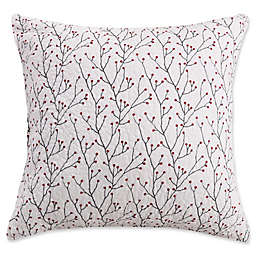 Levtex Home Miracle European Pillow Shams in Red/White (Set of 2)