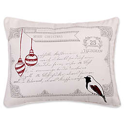 Levtex Home Miracle Birds Postcard Throw Pillow in White