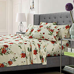 Tribeca Living Madrid Floral Sheet Set