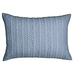 DKNYpure Stripe Stitched Voile Oblong Throw Pillow in Blue