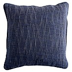DKNYpure Stripe Space Dye Square Throw Pillow in Blue