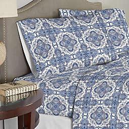 Pointehaven 200 GSM Flannel Twin XL Sheet Set in Alpine Blue