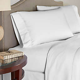 Pointehaven 200 GSM Flannel Twin XL Sheet Set in White