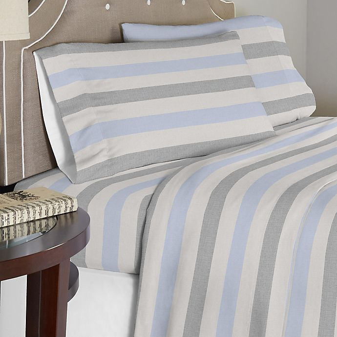 Alternate image 1 for Pointehaven 175 GSM Savannah Flannel Sheet Set in Beige