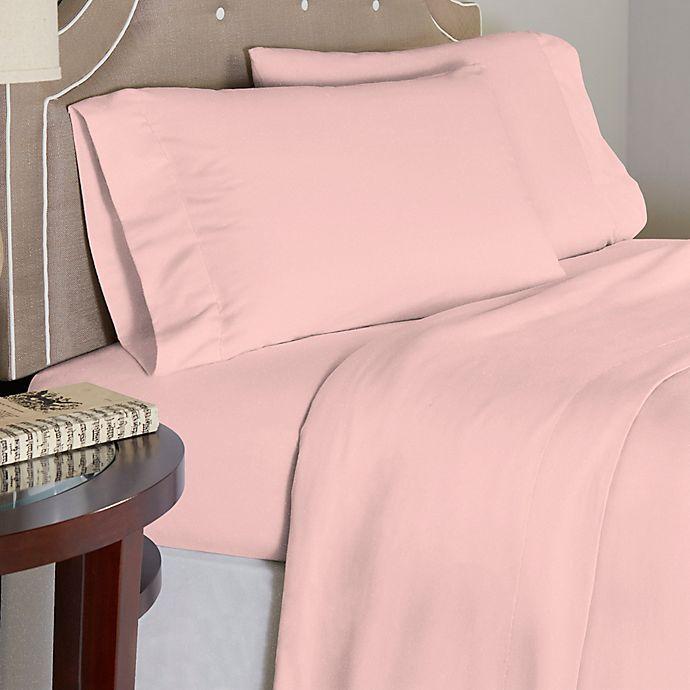 Alternate image 1 for Pointehaven Rose Quartz 175 GSM Flannel Twin XL Sheet Set in Pink