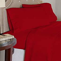 Pointehaven 175 GSM Solid Flannel Twin Sheet Set