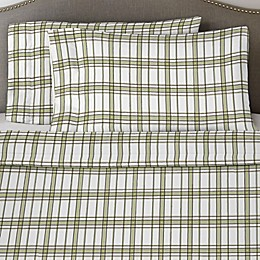 Pointehaven 170 GSM Plaid Flannel Twin Sheet Set