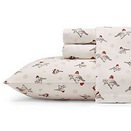 Eddie Bauer® Frosty Finch Flannel Sheet Set