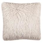 Safavieh Shag Modish Square Throw Pillow in Snow