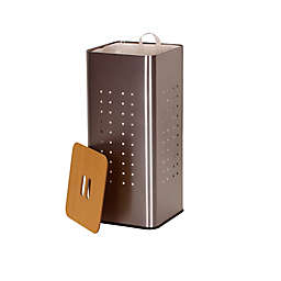 Household Essentials® Square Metal Laundry Hamper in Silver