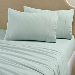 Great Bay Home Nordic Flannel Twin Sheet Set in Blue