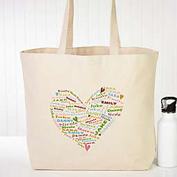 Her Heart of Love Canvas Tote Bag