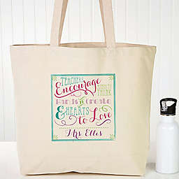 Teacher Quotes Canvas Tote Bag