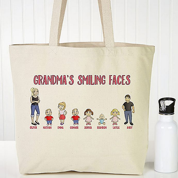 Alternate image 1 for Grandchildren Character Canvas Tote Bag